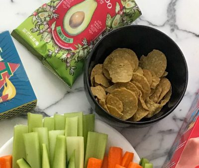 Temole Avocado Chips make a yummy and healthy snack addition to a technology free date night at home!